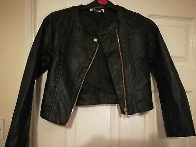 H&m faux Leather Jacket Girls 7-8