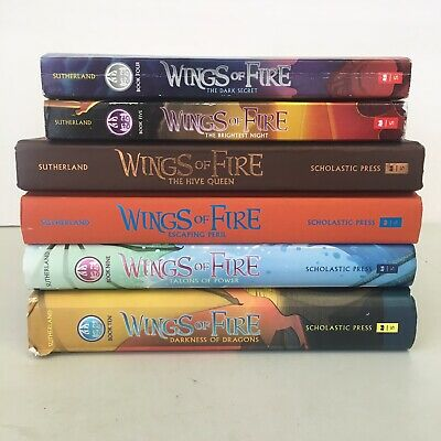Lot of 6 WINGS OF FIRE books
