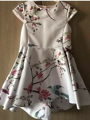 BNWT Ted Baker Girls' Light Pink Floral Print Dress Age 3-4 Years Old