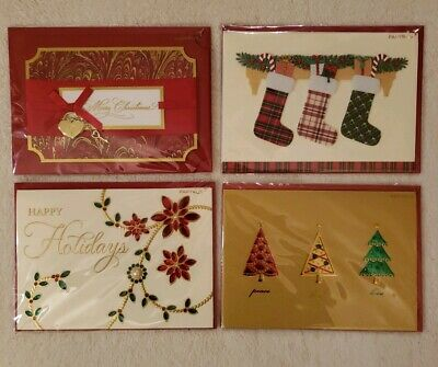 PAPYRUS Greetings Cards Christmas Lot of 4 Traditional, Religious, Handmade