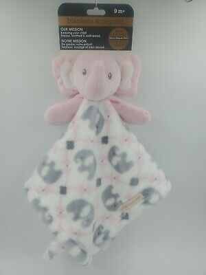 Blankets & Beyond Security Blanket, Elephant, Pink, Baby Girls Shower Gift B13