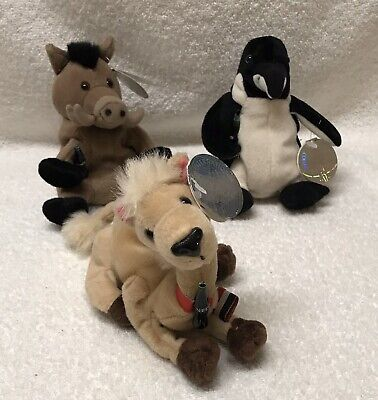 3 Coca Cola International Beanie plush Boar Italy/Penguin Chile/Camel Egypt COKE