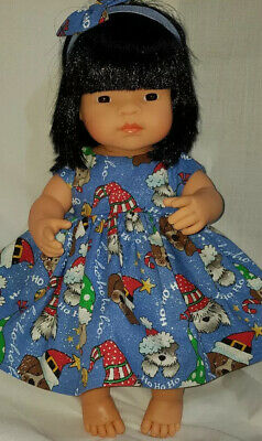 Handmade Clothes for 38cm Miniland Doll- Puppy Christmas.  Doll Not Included