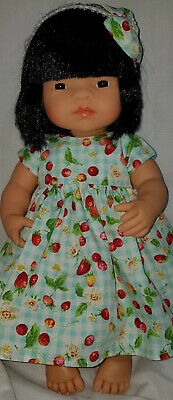 Handmade Clothes for 38cm Miniland Doll or Journey Girl, fruit print. NO DOLL.