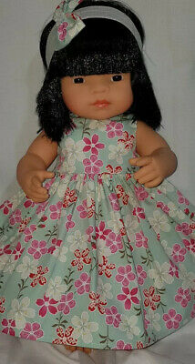 Handmade Clothes for 38cm Miniland Doll or Journey Girl, Pink Floral. NO DOLL.