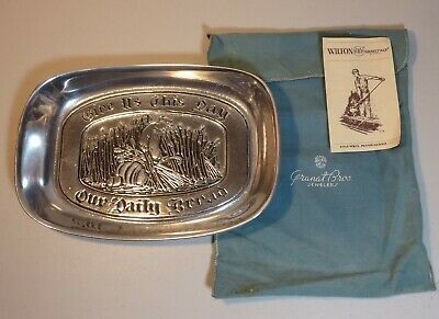 Wilton RWP Armetale Pewter Daily Bread Serving Tray - Vintage 1981