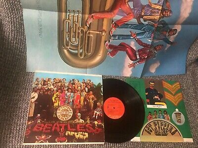 The Beatles Lp Sgt Peppers  N. M Capitol 2653 Two Posters