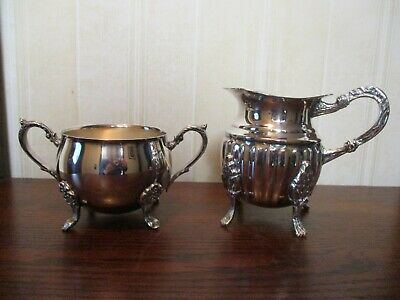 Reduced Price - Leonard Silver Plate Sugar Bowl With Creamer
