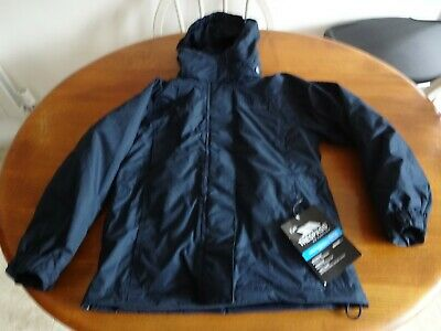 GIRLS BLUE TRESPASS 3 IN 1 WATERPROOF JACKET WITH HOOD and FLEECE AGE 8 YEARS