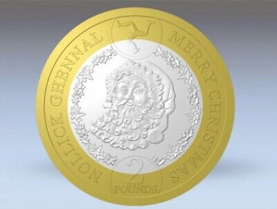 2019 Isle of Man Father Christmas £2 UNCIRCULATED Coin in Wallet PreOrder