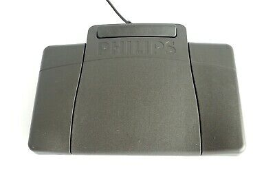 Philips Transcription Foot Pedal LFH2210 Black for Dictation Machines USED