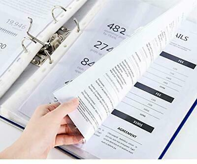 Heavy Duty Clear Sheet Paper Page Document Protectors 8.5 x 11 Plastic Sleeves