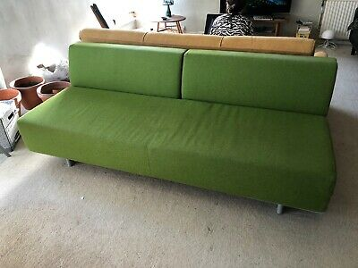 Marvelous Muji Sofa Bed T2 Double 3 Seater Bright Leaf Green Cost 800 Bralicious Painted Fabric Chair Ideas Braliciousco