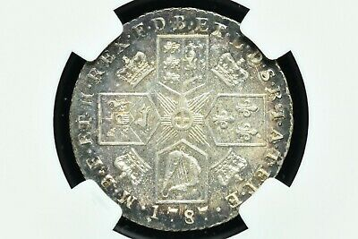 1787 Great Britain Silver 1 Shilling Stop After III NGC AU-58