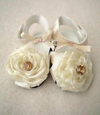 Fits  American Girl Our Generation Cream Rose Party Sandals 18 Inch Doll Clothes
