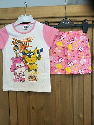 New Girls Pyjamas , Age 5 Years , Colour Pink & White, Theme Super Wings