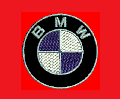 "BMW 7.5cm (3""inches) Motorcycle Patches Logo Embroidery Iron on/Sewing on"