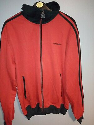 Vintage Adidas Trefoil Track Jacket Red/Black