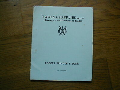 1960 CATALOGUE of Tools for HOROLOGICAL and INSTRUMENT trades  ROBERT PRINGLE
