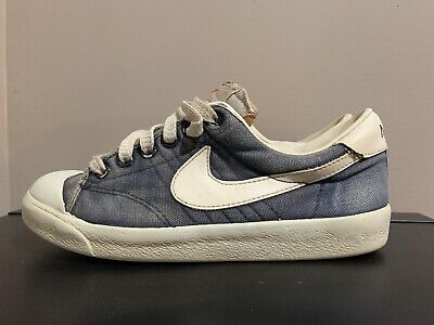 Vintage Nike Curt Canvas Youth Size 4 1979 1970s 1405 NB/W 40 Years Old