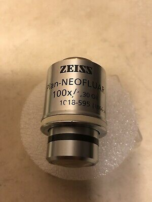 ZEISS Microscope Objective Plan NEOFLUAR 100X/1.30 oil 1018-595 RMS Thread