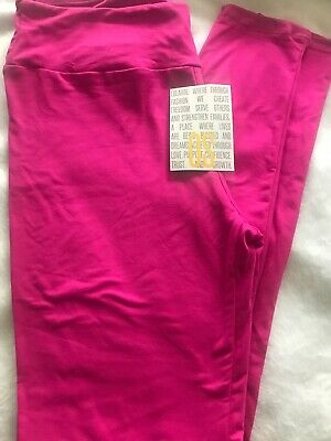 LuLaRoe Solid Hot Pink Leggings Soft /& Comfy Casual OS ONE SIZE HOT RARE COLOR**