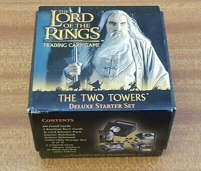 The Lord Of The Rings Carta Game: The Two Torres de Lujo Set Principiante - Vgc