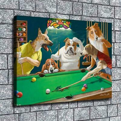 """12""""x16""""Dog Playing Cards Posters HD Canvas Print Home Room Decor Wall art Poster"""