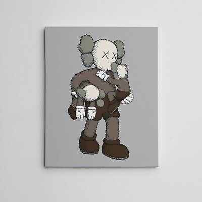 """16X20"""" Gallery Art Canvas: Kaws Companion Clean Slate NYC Brian Donnelly"""