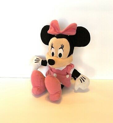 """Disney Minnie Mouse 11 """" Plush Beanbag Doll Stuffed Toy Authentic Licensed EUC"""
