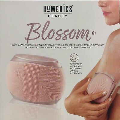 •HoMedics Blossom - Portable Body Cleansing Brush, Medical Grade Soft Silicone