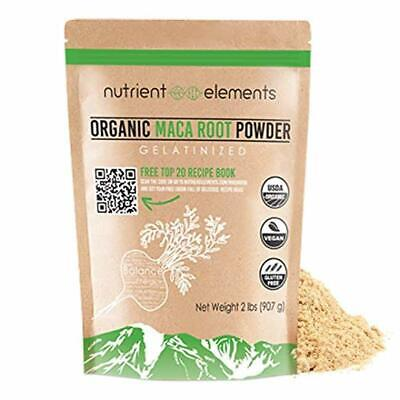 Premium Organic and Raw Maca Root Powder - 2 lbs - USDA Certified and Gelatinize