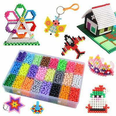 Kids 5200 SUPER REFILL Aqua Water Fuse Beads 24 SEPARATE Color Packing Xmas