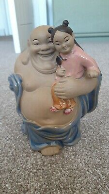 Vintage Chinese mudman buddha and child lovely condition