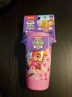 Playtex Paw Patrol 2-Piece Spill-Proof Cup 360° Spoutless 10 Oz Stage 2, 12 M+