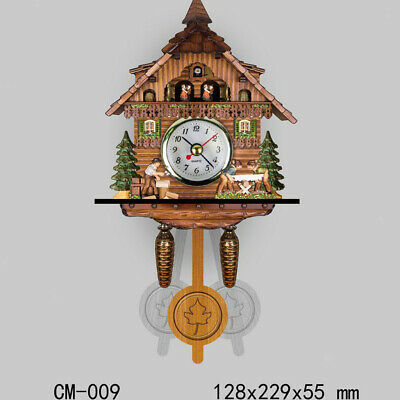Wooden  Cuckoo Coo Wall Clock Decorative Clock Christmas Gift-I