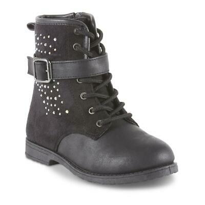 New w// Defects Girls Piper 11579 Allie Slouch Boots Black A11 Toddler