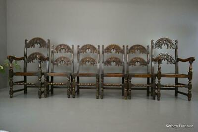 Set 6 17th Century Style Oak & Elm Yorkshire Country Dining Chairs Chairs