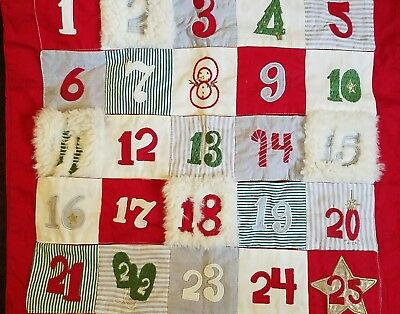 New Pottery Barn Kids Crib North Pole Christmas Calendar Pillow Cover