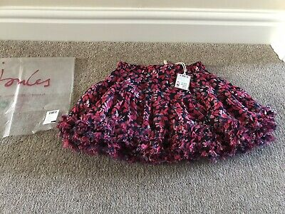 Joules Girls Lillian French Navy Leaf Skirt, Age 5 - Brand New With Tag