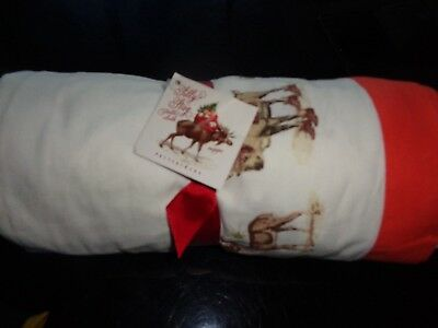 Pottery Barn Silly Stag Tablecloth 70 x 108 Christmas Holiday New