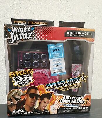 WowWee Paper Jamz Pro Series Perfect Pitch Microphone /& Effects Amp NIB
