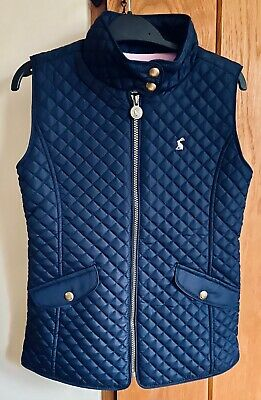 New Girls JOULES LITTLE JOULE Quilted Gilet Navy Age 9 - 10