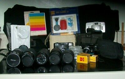 Lot of Assorted Cameras Accessories Lens and Caps Multiple Brand Names