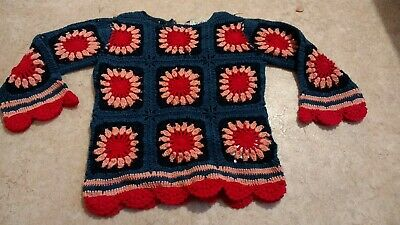 Girls NEXT Floral Crochet Long Sleeve Top/Jumper Age 3 Years Washed & Never Worn