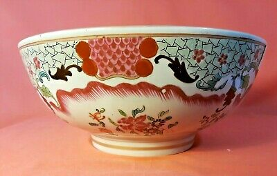 Antique Chinese Export Famille Rose Large Center Bowl