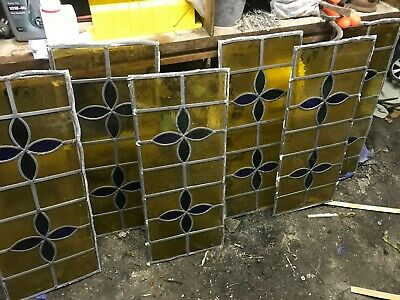 4 x Stained glass panels