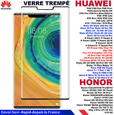 FILM PROTECTION TRANSPARENT VITRE VERRE TREMPÉ HUAWEI P8/Lite/P9/ Plus/ P10/ P20