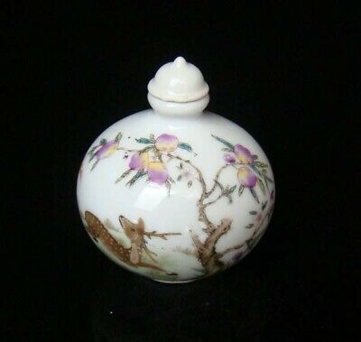 Collectible 100% Handmade Painting Porcelain Snuff Bottles Deer 46