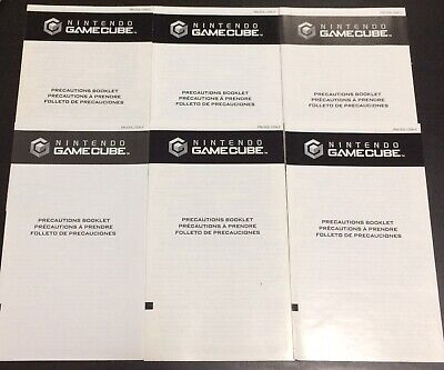 Nintendo GameCube Precautions Booklets x 5 Inserts Only C/PM-DOL-USA-2 Lot
